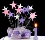 4315699-fancy-cake-with-number-one-candle--decorated-with-ribbons-and-star-shapes-in-pastel-tones-on-black-b