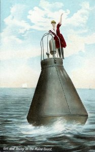 buoy old postcard